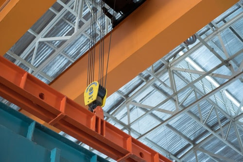 Onsite overhead crane servicing