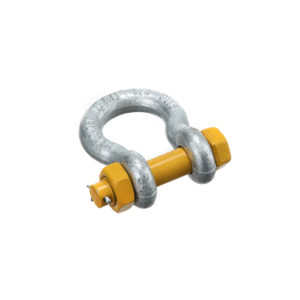bow lifting shackles with safety pin